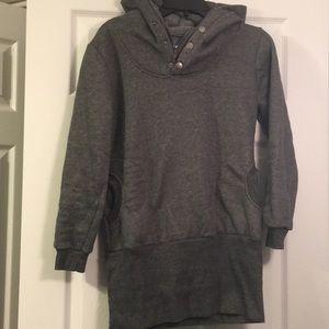 Tops - Grey sweatshirt tunic dress